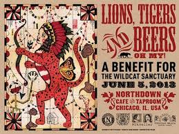 Lions Tigers And Beers Horizontal Event Poster