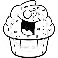 cupcake clip art black and white clipart panda free clipart images xNMMMR clipart