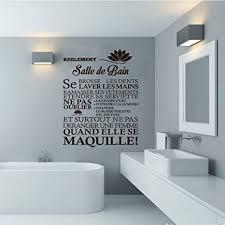 woyaofal französisch zitat wandbild badezimmer regel vinyl