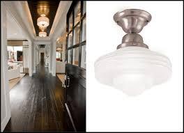 Farmhouse Semi Flush Light Astonishing Mount Schoolhouse Lighting In A Entry Blog Home Interior 6