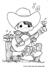 Tags Boy Coloring Pages Cowboy Fargelegge Tegninger Guitar Playing Precious Moments Print Out Previous Post Tiger For Kids