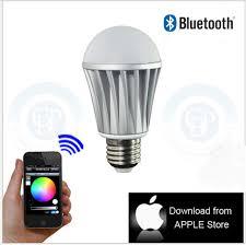 app controlled wireless bluetooth e27 rgb led l bulb brightness