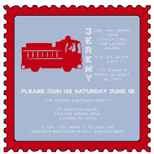 Fire Truck Theme Red Postage Stamp Shape Save The Date Magnet Custom  Birthday Party Invitation And Unique Announcement