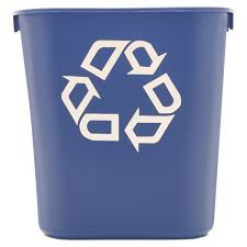 Small Rectangular Bathroom Trash Can by Rubbermaid Commercial Small Deskside Recycling Container