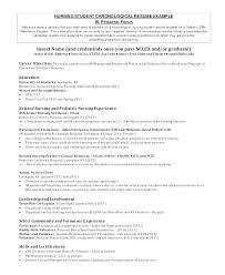 Student Resume Example Registered Nurse Nursing Examples Sample 8