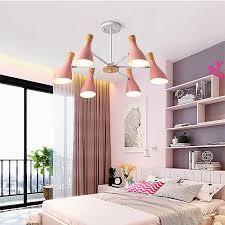 hängeleuchte modern macaron aus holz und metall schlafzimmer