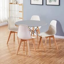 grau weiß goldfan runder esstisch mit 4 stühlen moderner