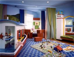 Crafty Curtain Room Dividers For Kids Fancy Playroom Idea With Awesome Boat Miniature And Blue Throughout Clever Design