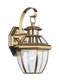 8037 02 one light outdoor wall lantern polished brass