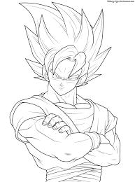 98 Imágenes De Goku Y Sus Transformaciones Para Colorear Colorear