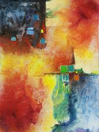 Watercolor Abstraction Emerge I By Carole Kauber Mixed Media