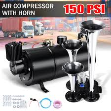 New Truck Train 4 Trumpet Chrome Air Horn Kit W/ 150 PSI 12V 3 Liter ... Philippines 4 Trumpet Vehicle Air Horn 12v24v Compressor Tubing Hornblasters Jackass 228v Kit Best Rated In Horns Helpful Customer Reviews Amazoncom Universal Fourtrumpet Air Train Horn For Cartruckboat Kleinn Pro Blaster Train Kits Hella Dual 24v Autoelec Warehouse Online Shop 12v Car Boat Truck 178db Tone Complete System With Compressor Tank And New Chrome W 150 Psi 3 Liter Malaysia Loud Easy To Fit Tech 12v Truck Youtube