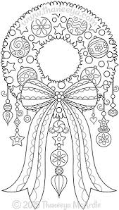 Color Christmas Wreath Coloring Page By Thaneeya