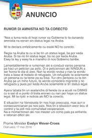 100 Ta E Aruba No Tin Amnistia Esei Ta Otro Fake News Xtra