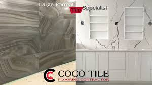 large format tile benefits coco tile flooring contractor inc