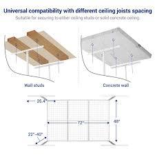 Ceiling Joist Span For Drywall by Amazon Com Fleximounts 4x6 Heavy Duty Overhead Garage Adjustable