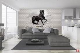 Wall Mural Decals Uk by Fascinating Horse Racing Wall Decals Winter Horses Wall Mural