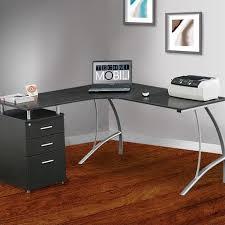 Techni Mobili Computer Desk With Side Cabinet by Techni Mobili L Shape Corner Desk With File Cabinet In Dark