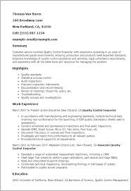 Quality Control Inspector Resume Sample Rh Masinky Tk Certified Welding Examples