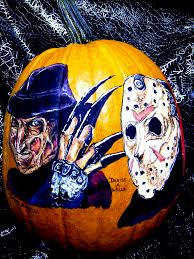 Freddy Krueger Pumpkin by Freddy Vs Jason Pumpkin Painting By Denise A Wells Flickr