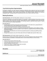 Sample Resume Bank Customer Service Representative