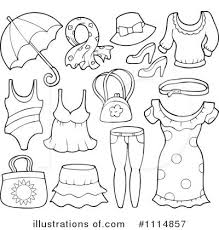 Royalty Free RF Clothes Clipart Illustration 1114857 By Visekart