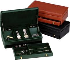 mens leather dresser valet s leather jewelry box leather valet