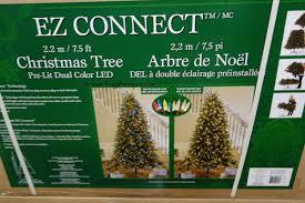 75 Ft Pre Lit LED EZ Connect Dual Color Christmas Tree Costco