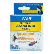 api ammonia test strips freshwater and saltwater aquarium water