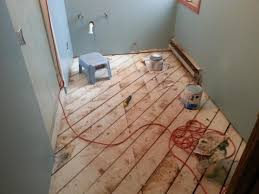 on installing plywood and backer board over existing subfloor