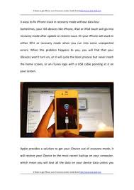 How to iphone out of recovery mode by maccolar issuu