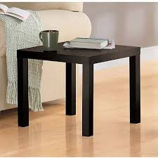 Sofa Snack Table Walmart by Mainstays Parsons End Table Multiple Colors Walmart Com