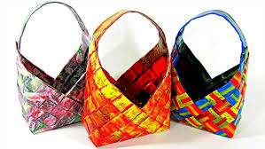Basket Craft Recycled Paper Basketrhfinecraftguildcom How To Make Baskets Youtuberhyoutubecom Diy Newspaper