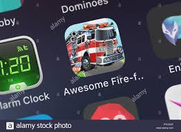 100 Fire Truck Games Free London United Kingdom October 26 2018 Closeup Shot Of The