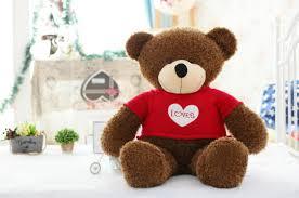 80cm lovely brown bear teddy bear with clothes cute 100 cotton