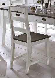 essgruppe gomera mit tisch und 6 stühlen aus akazie 2 farbig lackiert
