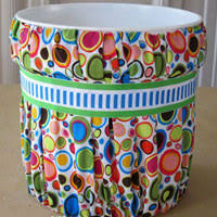 No Sew Fabric Covered Paint Bucket Waste Can