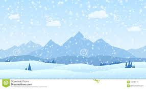 100 Mountain Design Group Winter Landscape S Flat Stock Vector