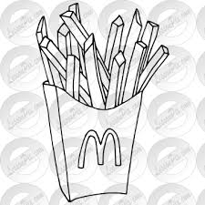McDonalds French Fries Outline