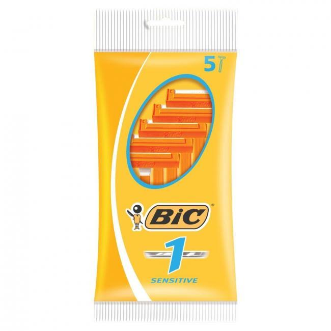 Bic 1 Sensitive Disposable Razors - 5 Pack