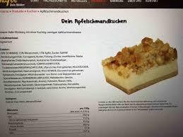 diverse apfelschmandkuchen schäfer dein bäcker kalorien