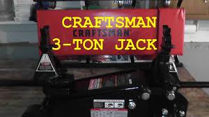 craftsman 3 ton floor jack set hd youtube