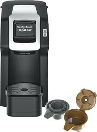 Hamilton Beach Flexbrew Coffee Maker Coffeemaker Black Larger Front Single Serve