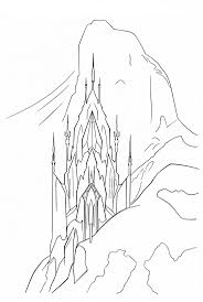 Frozen Ice Castle Coloring Page Inside