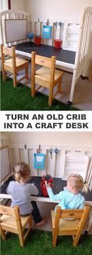 Refurbish A Crib Into Craft Table For The Kids Easy DIY Furniture Makeovers