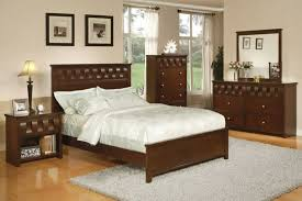 Elegant Dark Brown Bedroom Furniture And Ideas Stained Wooden Double Size Bed Frame