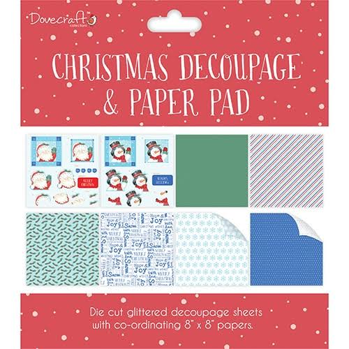 Dovecraft Christmas Decoupage Pad - Red