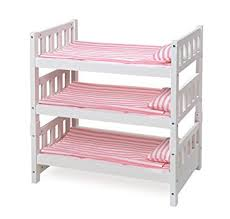 Amazon 1 2 3 Convertible Doll Bunk Bed with Bedding Pink