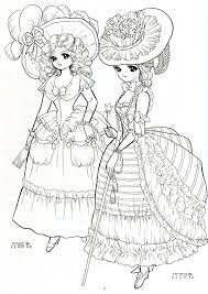 Ladies In Historical Costume 1779 1785 Princess World Shoujo Coloring Page