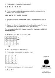 Smart enough for Mensa Try a sample IQ test ahead of Dundee